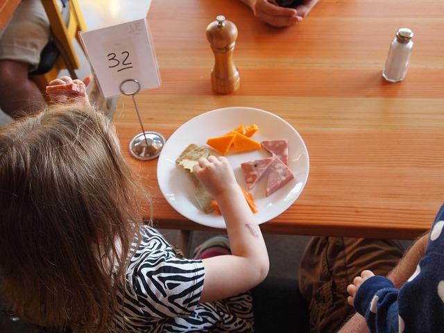 dziewczynka przy talerzu
