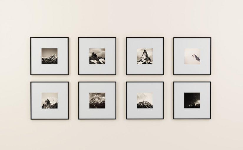 galeria ze zdjęć na ścianie